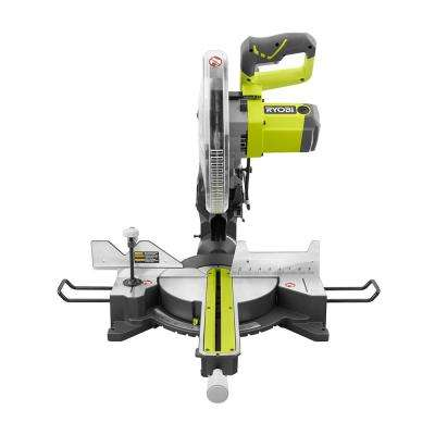 15 Amp 12 in. Sliding Miter Saw with Laser and Free Stand