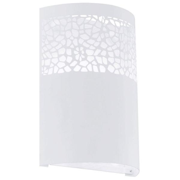 Carmelia 7.125 in. W x 9.625 in. H 1-Light White Wall Sconce