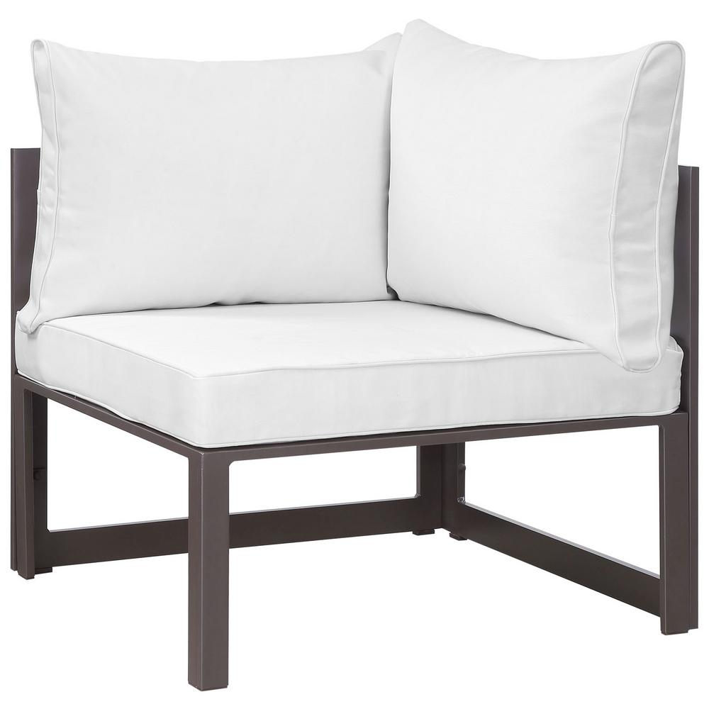 MODWAY Fortuna Corner Aluminum Outdoor Patio Lounge Chair...