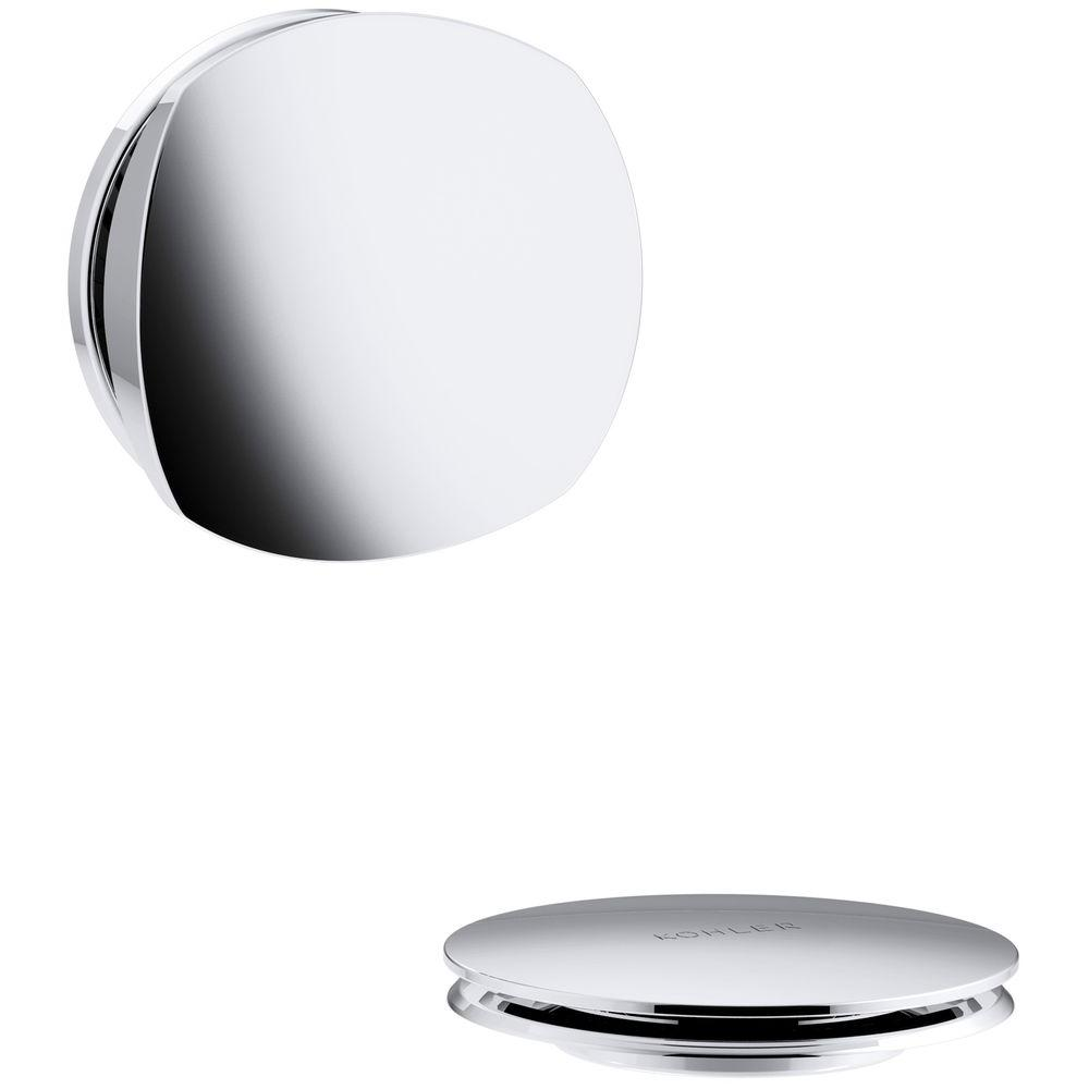 Kohler Pureflo Rotary Turn Bath Drain Trim Polished Chrome