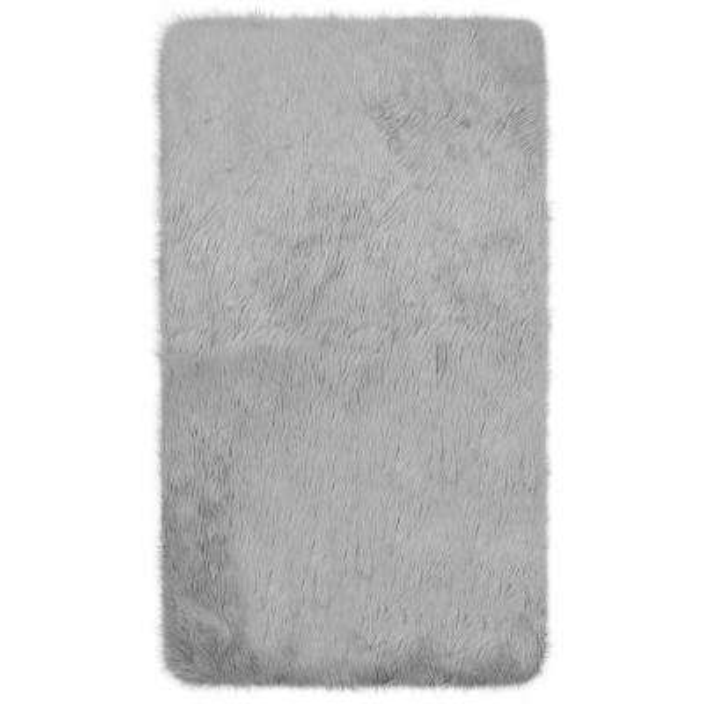 Faux-Fur 3' x 5' Area Rug, Light Grey