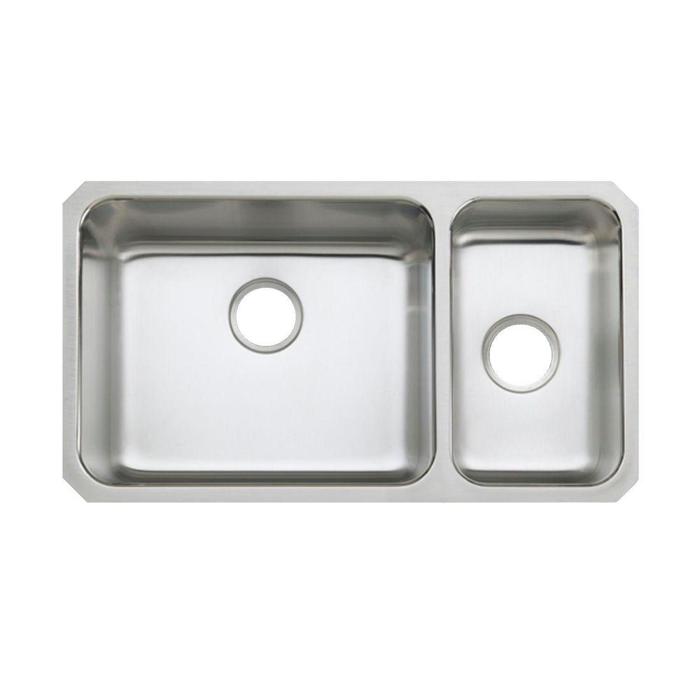 Kohler Undertone Undercounter Stainless Steel 31 5 In 0 Hole Double Basin Kitchen Sink