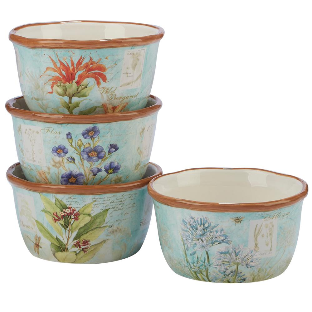 Herb Blossoms 4-Piece Multi-Colored 5.5 in. x 3 in. Ice Cream