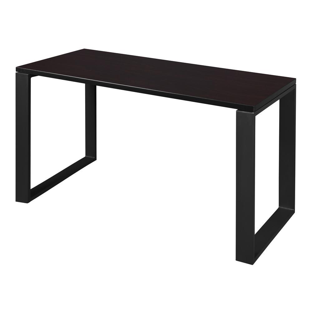 Structure 48 in. x 24 in. Mocha Walnut/Black Training Table