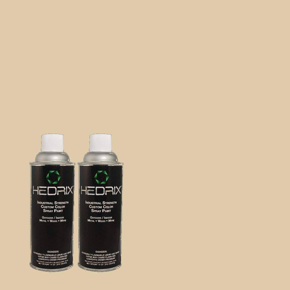 Hedrix 11 oz. Match of BHG-73 Gravel Road Gloss Custom Spray Paint (2-Pack)