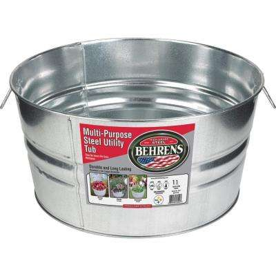 11 Gal. Galvanized Steel Round Tub
