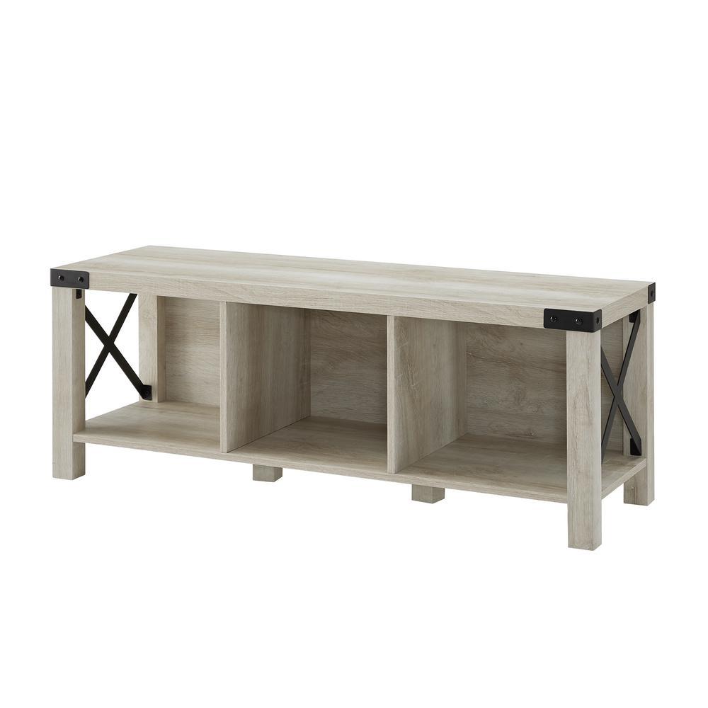 Astonishing Welwick Designs White Oak Rustic Farmhouse Wood Metal Machost Co Dining Chair Design Ideas Machostcouk
