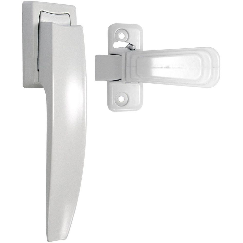 Ideal Security White Painted Pull Handle Set Sk1994w The