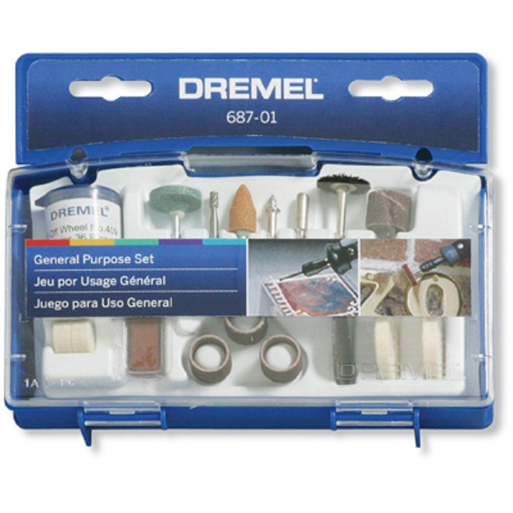 Dremel General and Multi-Purpose Rotary Tool Accessory Kit for Hard Wood, Metal, and Plastic (52-Piece)