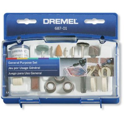 Rotary Tool General and Multi-Purpose Accessory Kit for Hard Wood, Metal and Plastic (52-Piece)