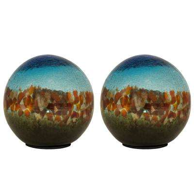 5 in. Art Glass Solar Gazing Ball (2-Pack)