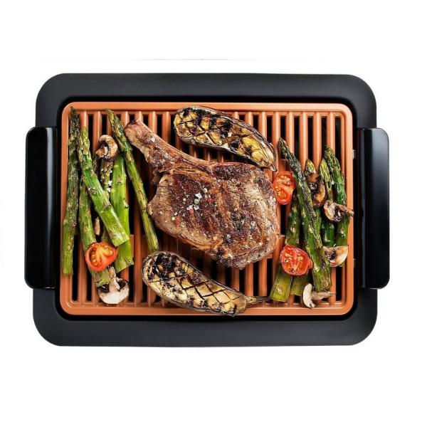 Gotham Steel 120 sq. in. Black Copper Smokeless Indoor Grill 1618