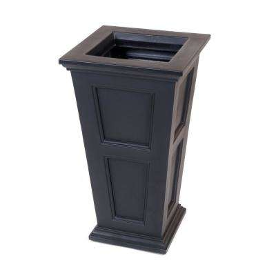 Fairfield 40 in. Black Plastic Planter