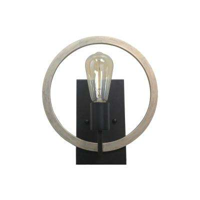 Paradoxial 1-Light Back/Brown Sconce