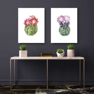20 in. x 16 in. 'Cactus Bloom IV' by Grace Popp Fine Art Wrapped Canvas Print Wall Art
