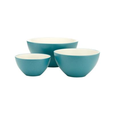 Colorwave 3-Piece Turquoise Bowl Set