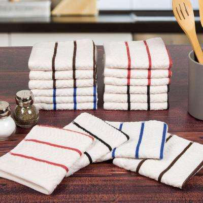 16-Piece Cotton Towel Set in White
