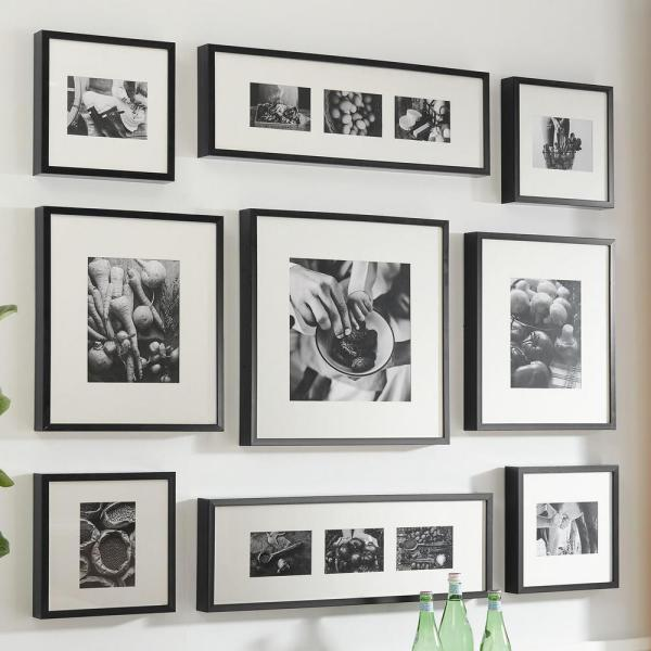 Stylewell Stylewell Black Frame With White Matte Gallery Wall Picture Frames Set Of 7 H5 Ph 273 The Home Depot