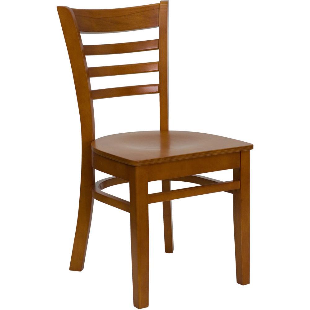 HERCULES Cherry Wood Seat/Cherry Wood Frame Side Chair