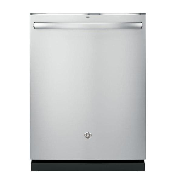 GE Top Control Dishwasher in Stainless Steel with Stainless Steel Tub and Steam Prewash, 45 dBA