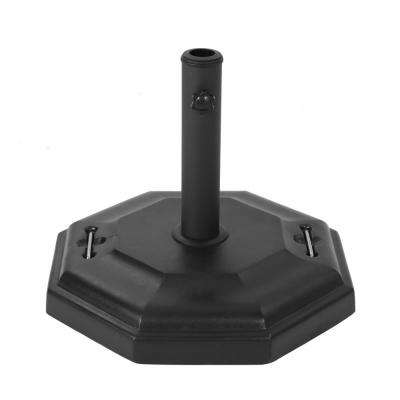 Presley 69 lbs. Concrete Patio Umbrella Base in Polished Black
