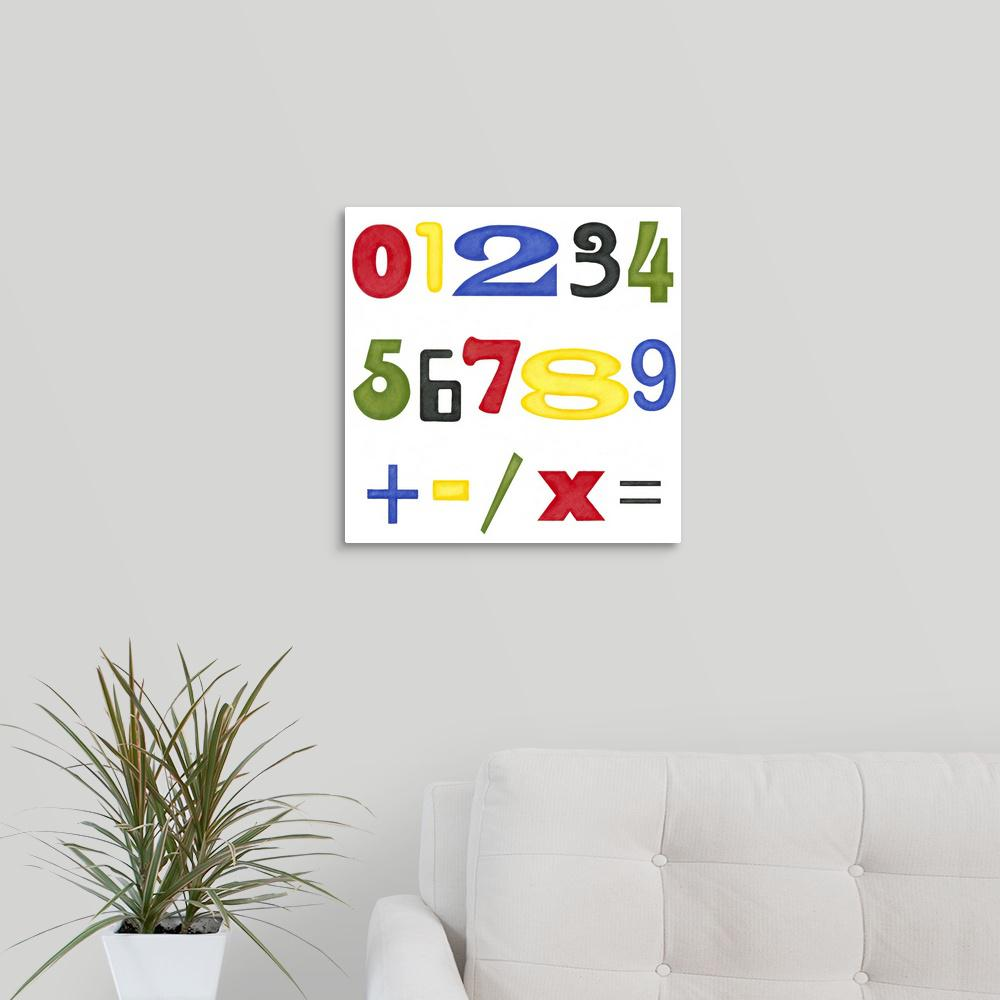 """Kid's Room Numbers"" by Megan Meagher Canvas Wall Art"