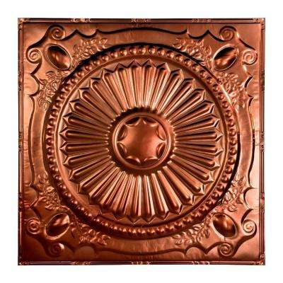 Toronto 2 ft. x 2 ft. Nail-up Tin Ceiling Tile in Vintage Bronze