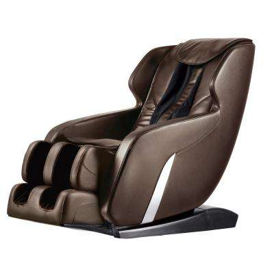 eSmart Series 5100B Large Fitness and Wellness Zero Gravity Massage Chair with Multi Therapy Programing in Brown