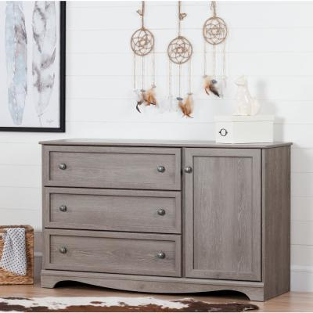Savannah 3-Drawer Sand Oak Dresser
