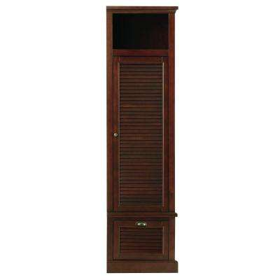 Shutter 43.5 in. H x 15.5 in. W Modular Right Locker Door in Smoky Brown