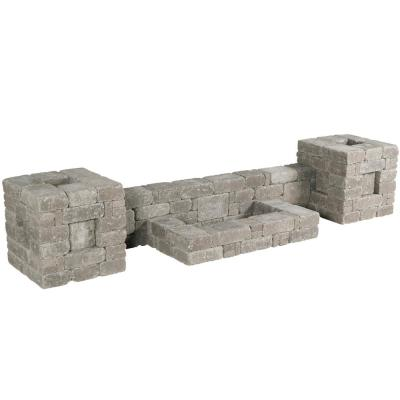 RumbleStone 112 in. x 21 in. x 24.5 in. Column/Wall Kit in Greystone