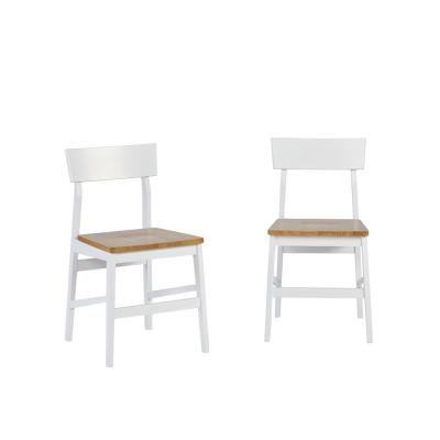 Christy Light Oak and White Dining Chairs (2-Count)