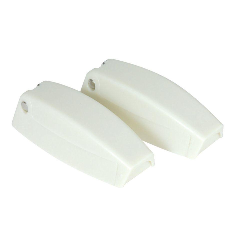 Camco Baggage Door Catch in White (2-Pack)