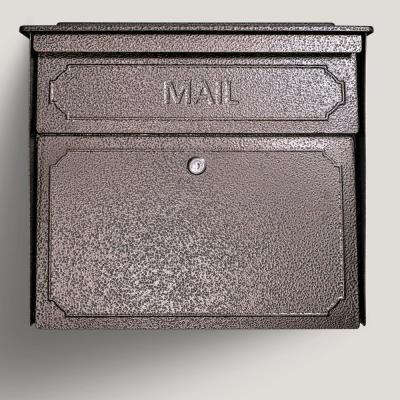 Townhouse Locking Wall-Mount Mailbox with High Security Patented Lock, Bronze