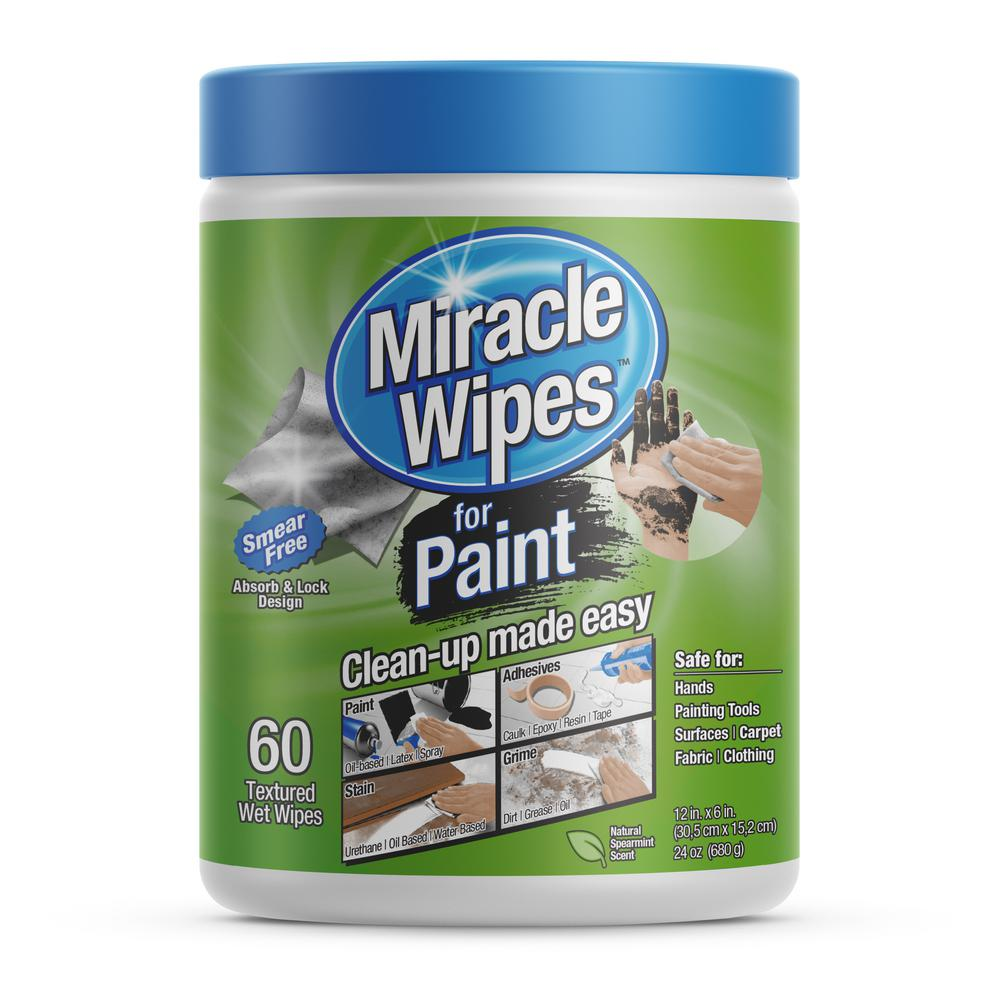 Miracle Brands 24 Oz Paint Miraclewipes 60 Count