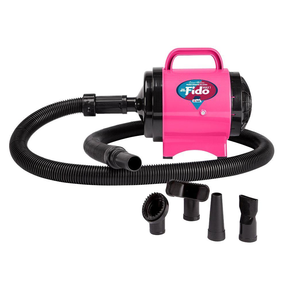 Cesar Millan Premier Grooming Collection 2 HP Fido Max 1 Pet Grooming Dog Dryer in Hot Pink