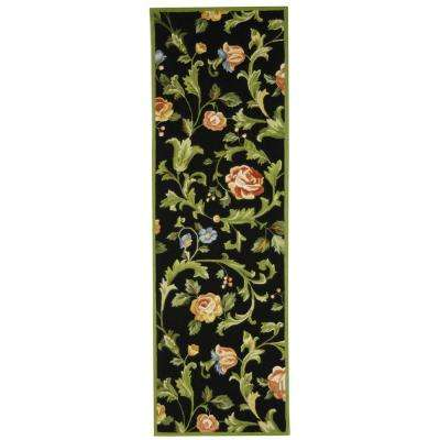 Chelsea Black 3 ft. x 10 ft. Runner Rug