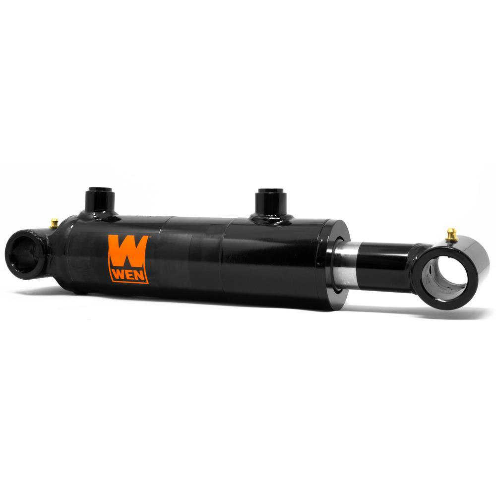 Black WEN WT2012 Cross Tube Hydraulic Cylinder with 2 Bore and 12-inch Stroke