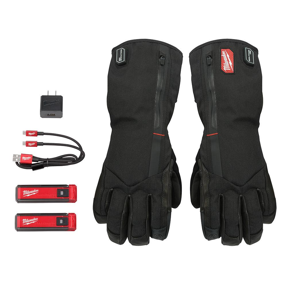 Milwaukee Rechargeable Heated Gloves with Lithium USB Battery and Charger
