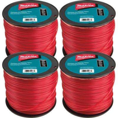 3 lbs. 0.105 in. x 690 ft.Round Trimmer Line in Red (4-Pack)