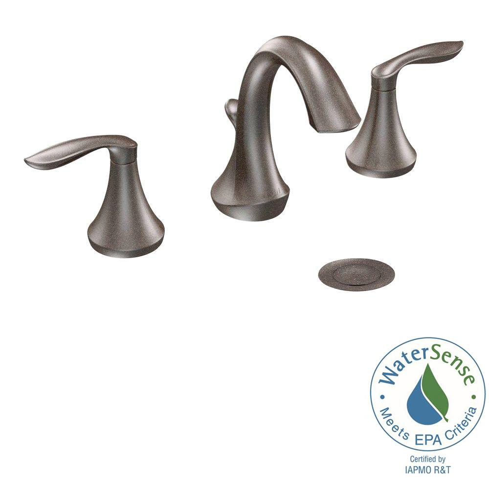 Eva 8 in. Widespread 2-Handle High-Arc Bathroom Faucet Trim Kit in