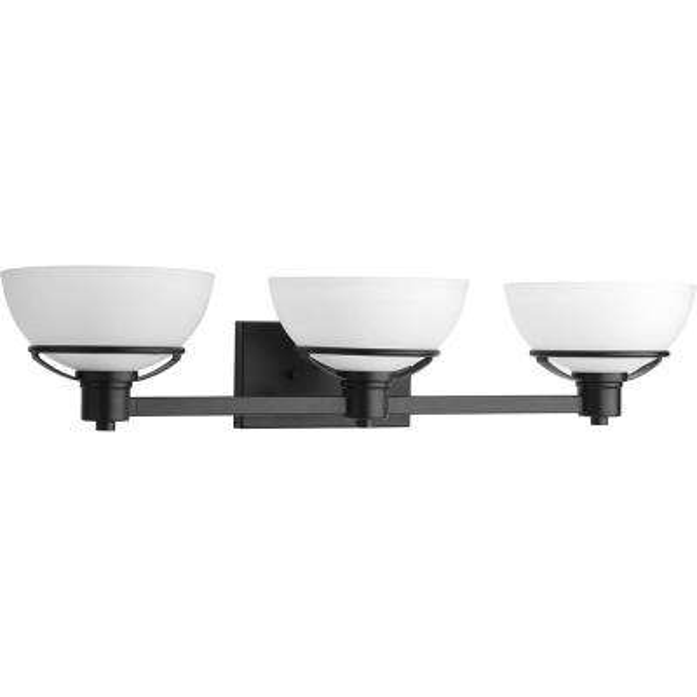 Domain Collection 3-Light Black Bath Light