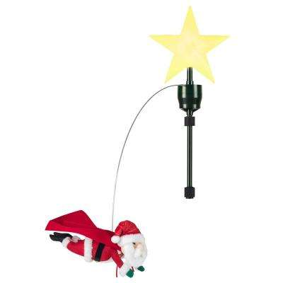Animated Flying Santa Tree Topper