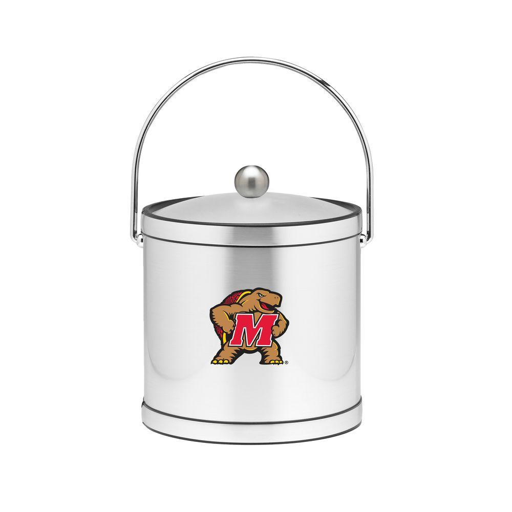 Kraftware Maryland 3 Qt. Brushed Chrome Mylar Ice Bucket