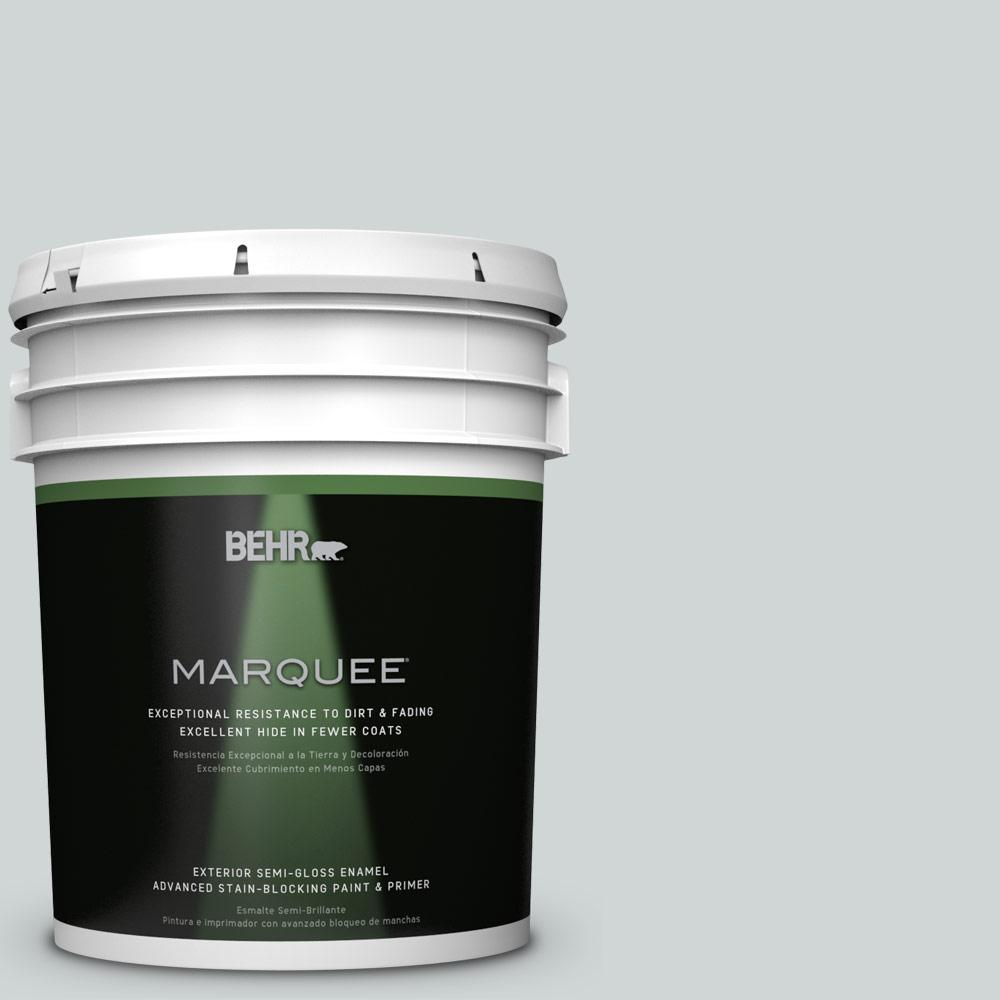 BEHR MARQUEE 5-gal. #N450-1 Evaporation Semi-Gloss Enamel Exterior Paint