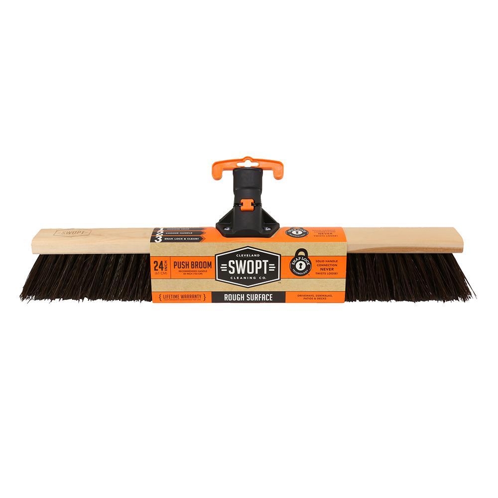 24 in. Premium Rough Surface Push Broom Head