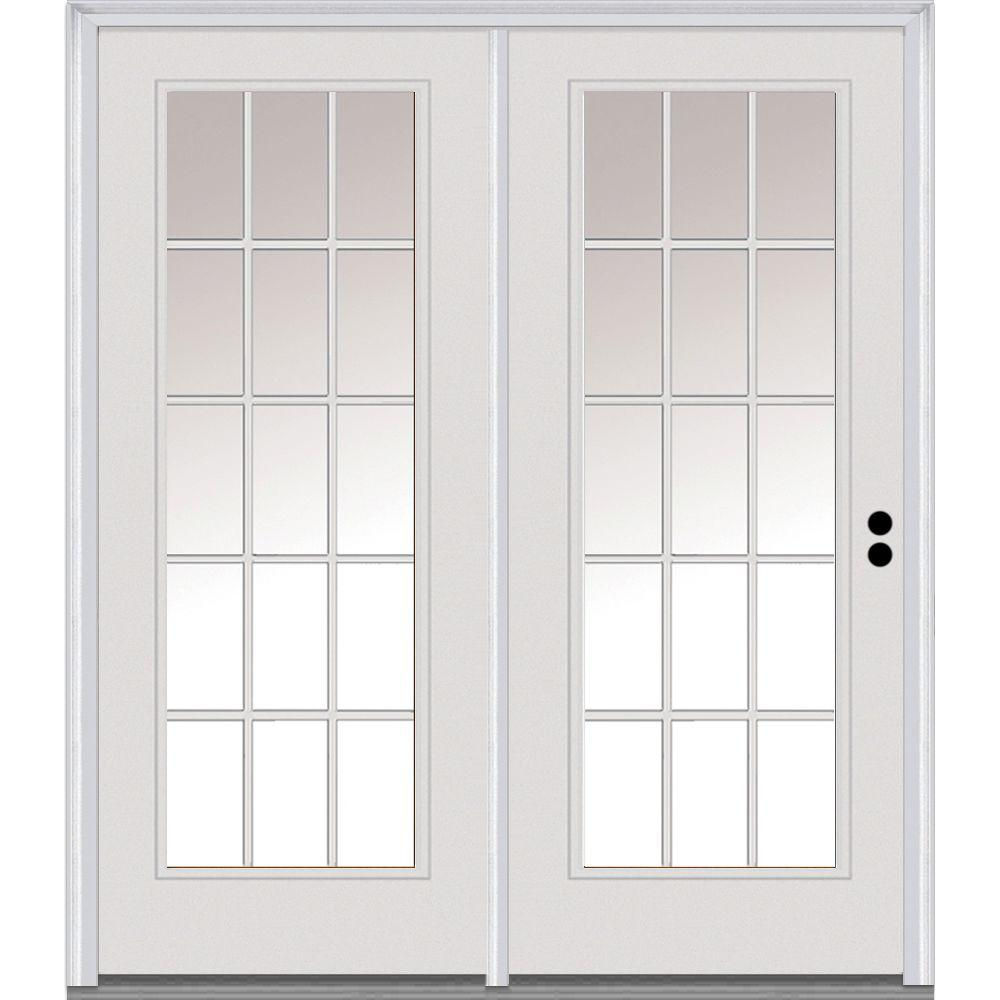 MMI Door 71 In. X 81.75 In. Classic Clear Glass Fiberglass Smooth Left