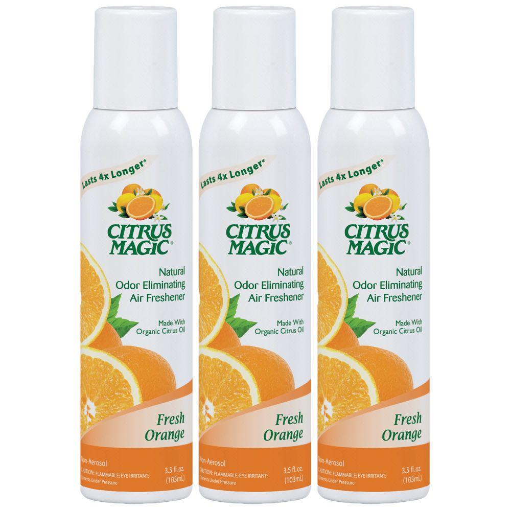 Tropical Orange All Natural Odor Eliminating Air Freshener Spray (3