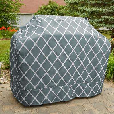 Lattice Silver Blue Premium Gas Heavy Duty Waterproof BBQ Grill Covers