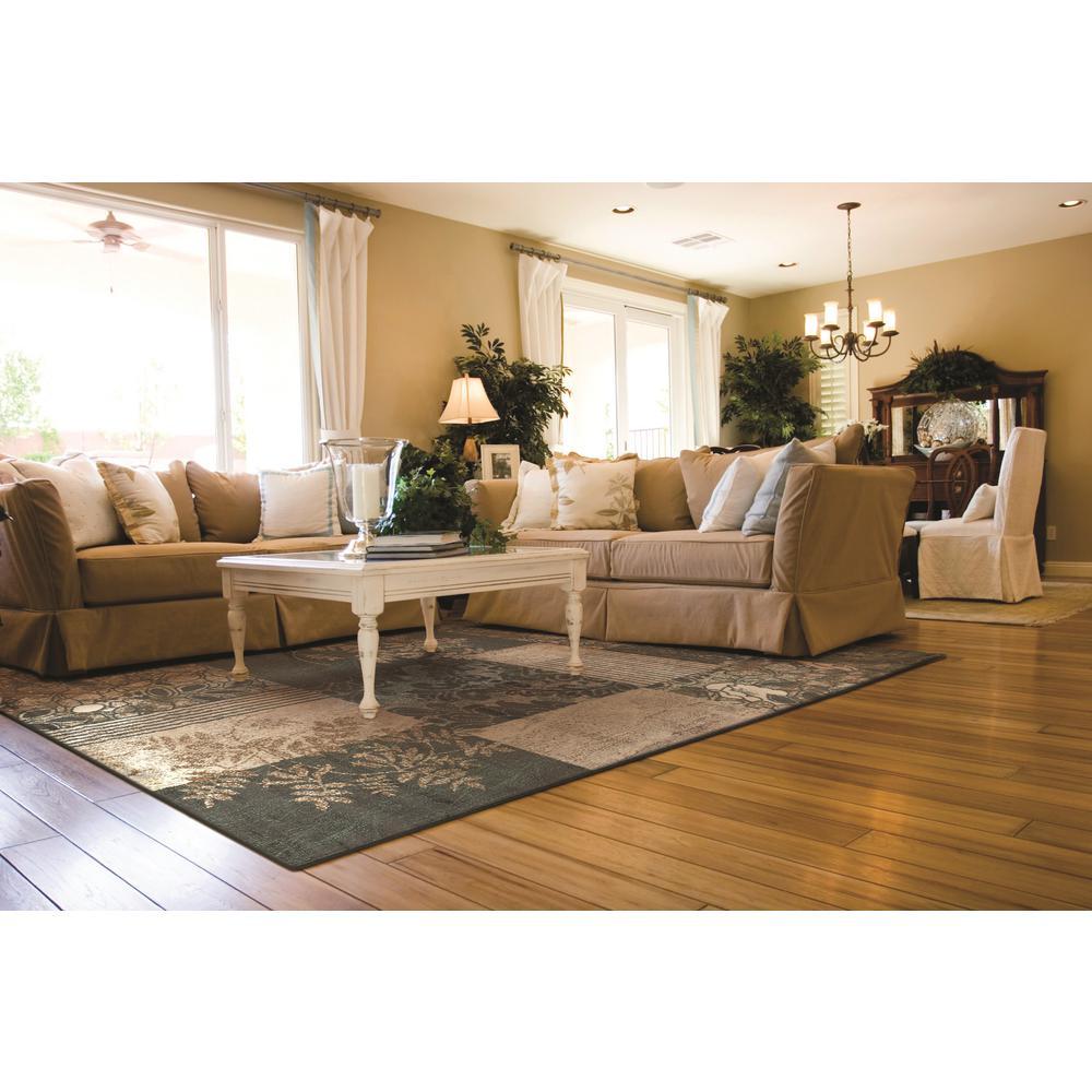 Linon Home Decor Elegance Marble Black 2 Ft X 3 Rectangle Area Rug